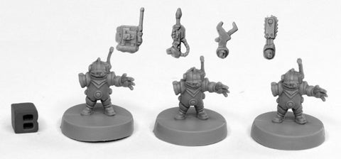 49002: TOOLBOTS (3) (Bones Black) reaper miniatures