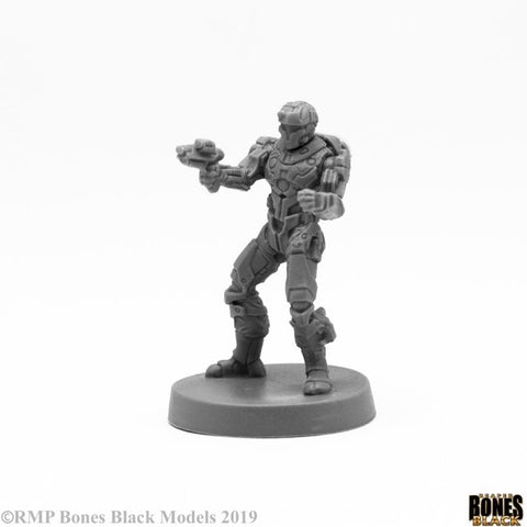 49017 Blood Nebula Mercenary Reaper Bones Black