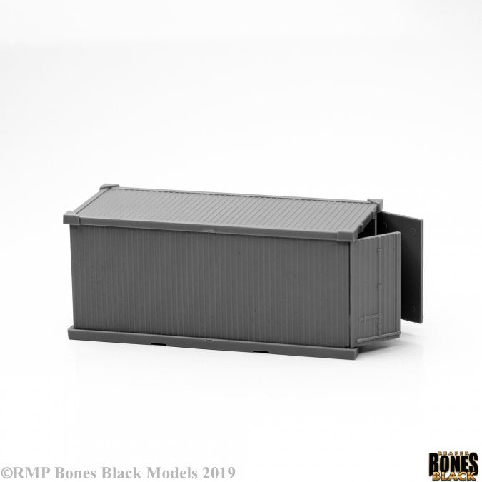 49033 - 20' Shipping Container (Bones Black) :www.mightylancergames.co.uk