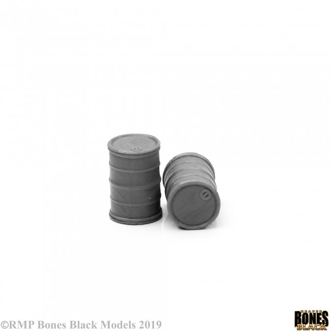 49034 - Modern Barrels x2 (Bones Black) :www.mightylancergames.co.uk