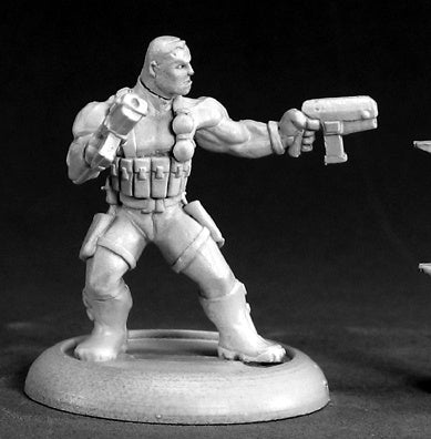 50044: Frank Russo, Mercenary Hero sculpted by Tom Mason