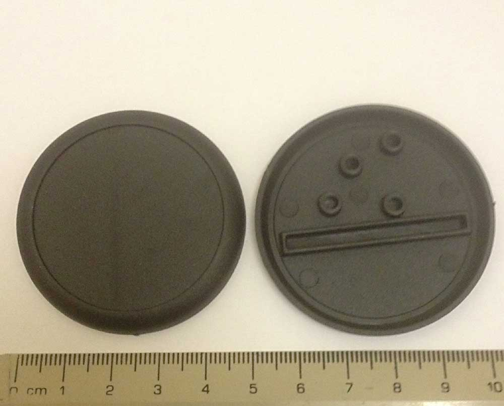 Miniature Bases: 50mm Round Base Lip (10 bases per blister) [RBL50]