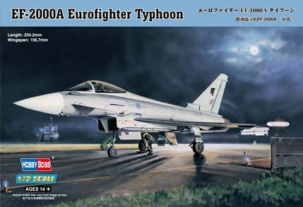 EF-2000A Eurofighter Typhoon - Hobbyboss 1:72: www.mightylancergames.co.uk