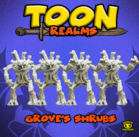 Grove's Shrubs - Toon Realms Miniatures - Lucid Eye Publications