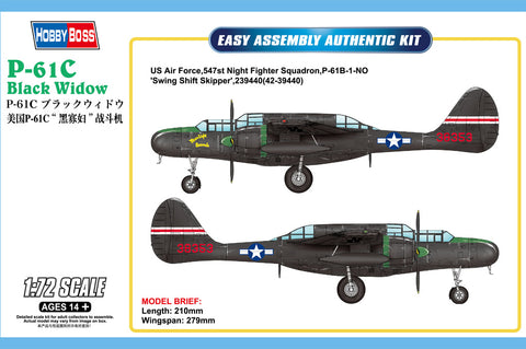Northrop US P-61C Black Widow - Hobbyboss 1:72