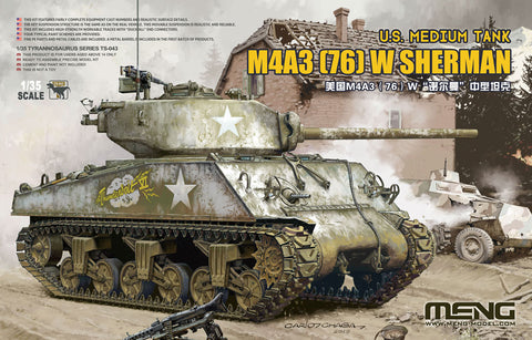 U.S. MEDIUM TANK M4A3 (76) W SHERMAN - 1/35 Meng