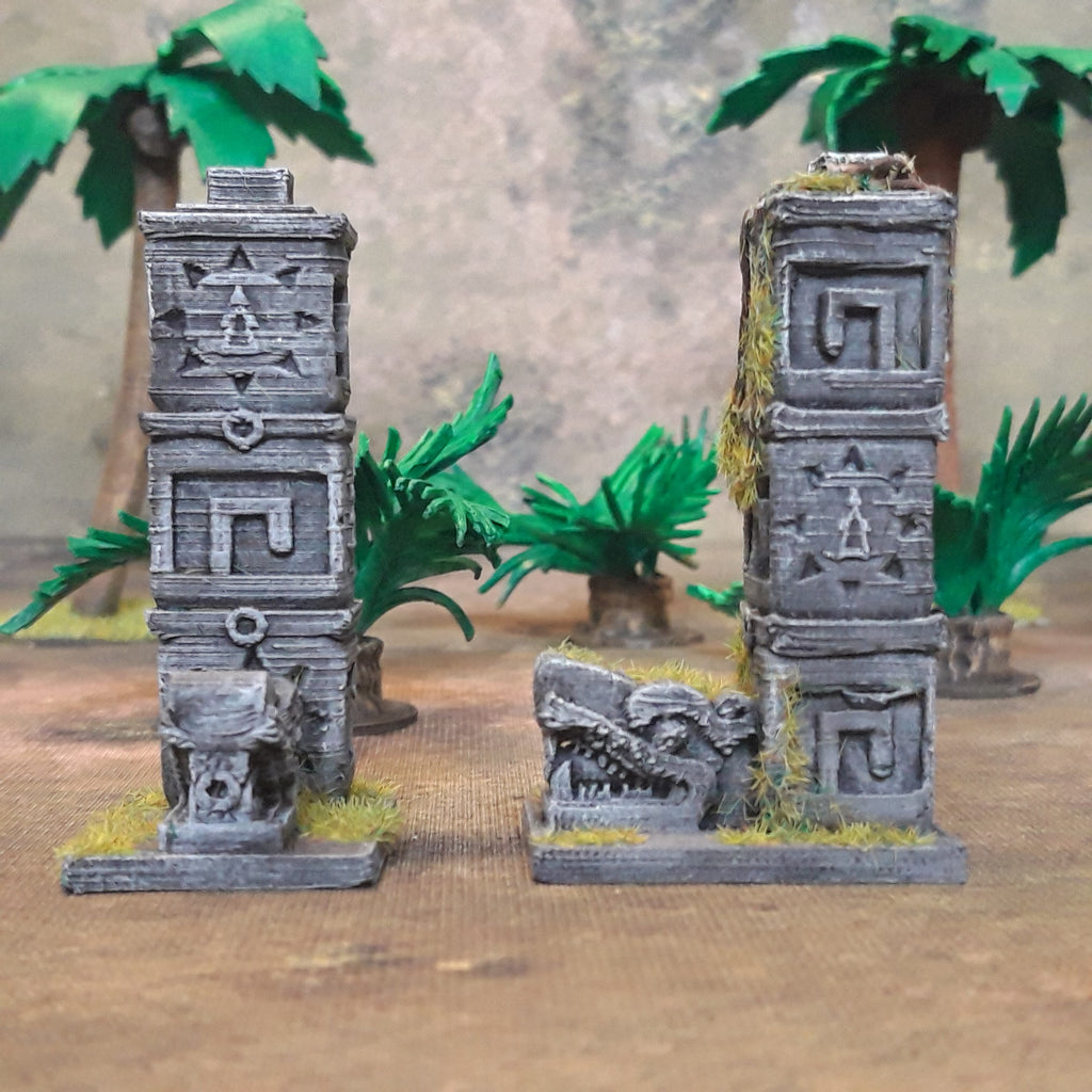 Aztec Columns (Irongate IG00073) :www.mightylancergames.co.uk