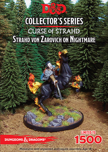D&D Collector's Series Limited Edition - Curse of Strahd - Strahd Von Zarovich on Nightmare (Dungeons & Dragons)