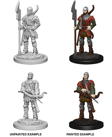 Wizkids Pathfinder Deep Cuts Unpainted Miniatures: Town Guards 72583