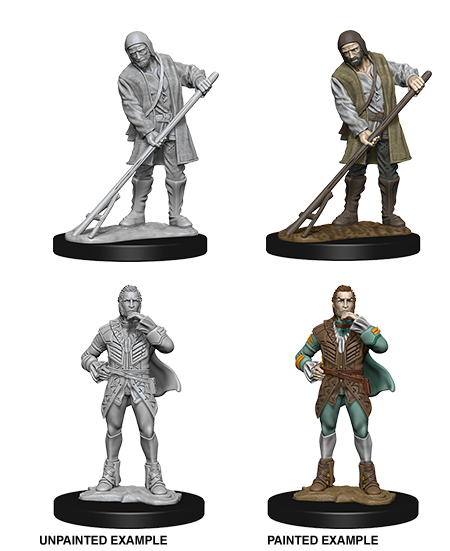 Pathfinder Deep Cuts Unpainted Miniatures: Towns People (Farmer/Aristocrat) 72585