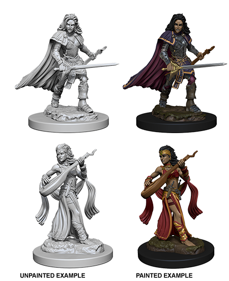Wizkids Pathfinder Deep Cuts Unpainted Miniatures: Human Female Bard 72610