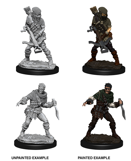 WizKids  -WizKids Deep Cuts Unpainted Miniatures: Bandits 73098: www.mightylancergames.co.com