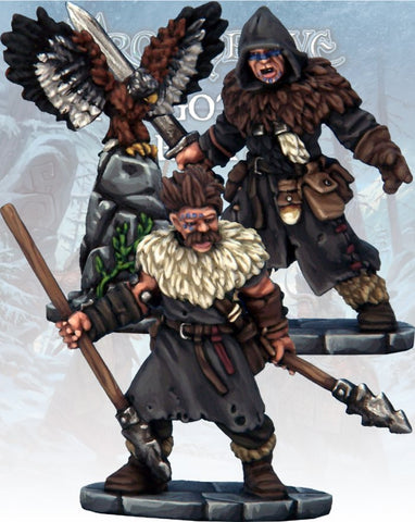 Frostgrave: Barbarian Crow Master & Javelineer: www.mightylancergames.co.uk