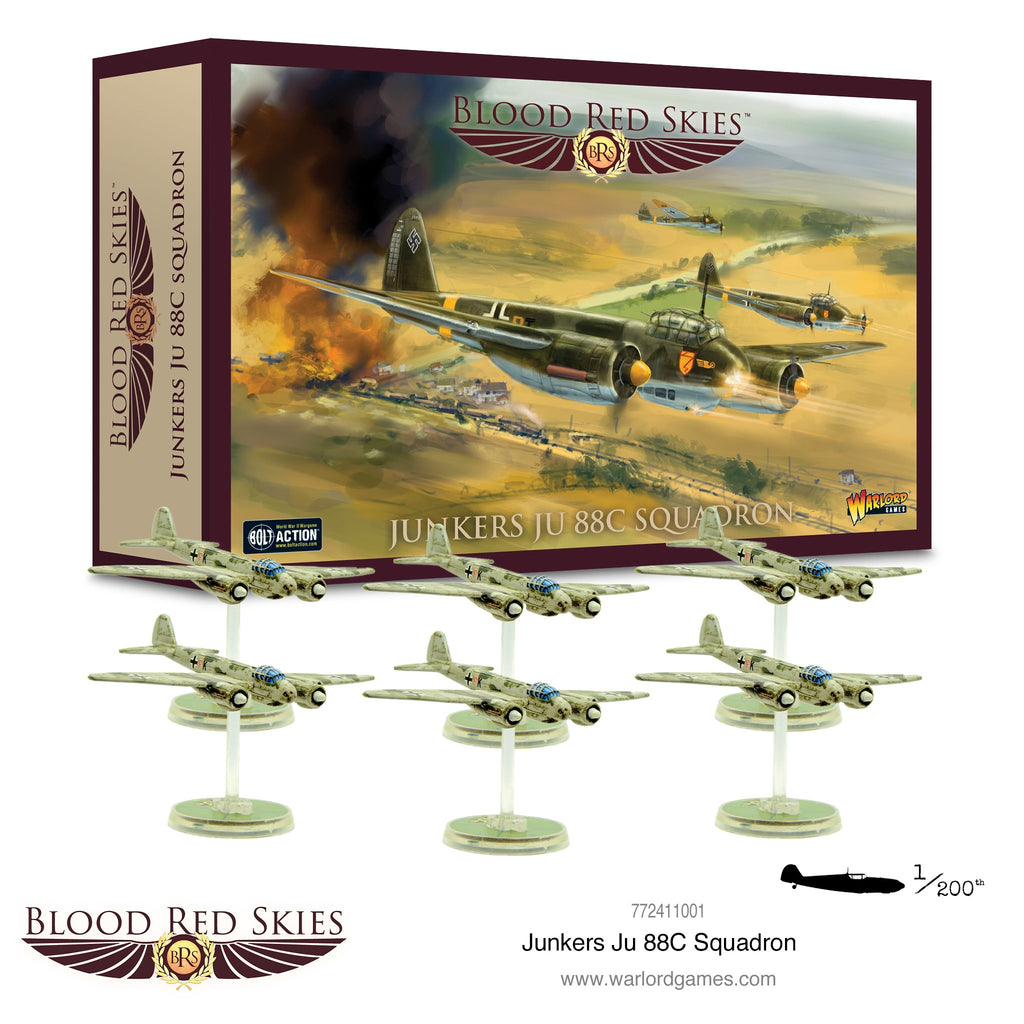 Blood Red Skies: Junkers Ju 88C squadron www.mightlancergames.co.uk