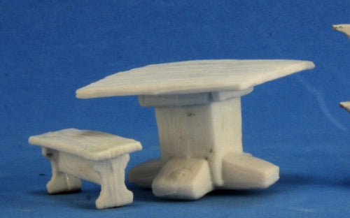 Reaper Bones - 77319 - Table and Benches: www.mightylancergames.co.uk