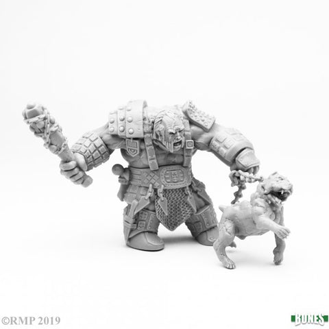 77457 Fire Giant Huntsman w/ Hell Hound :www.mightylancergames.co.uk
