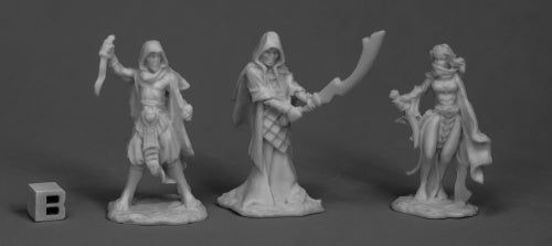 Reaper Bones - 77517 - Cultists (3) by Bob Ridolfi and Julie Guthrie: www.mightylancergames.co.uk