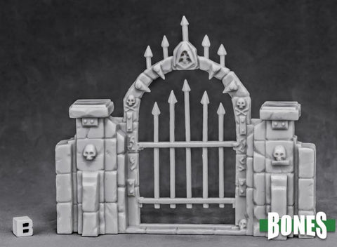 77527: GRAVEYARD FENCE GATE reaper miniatures