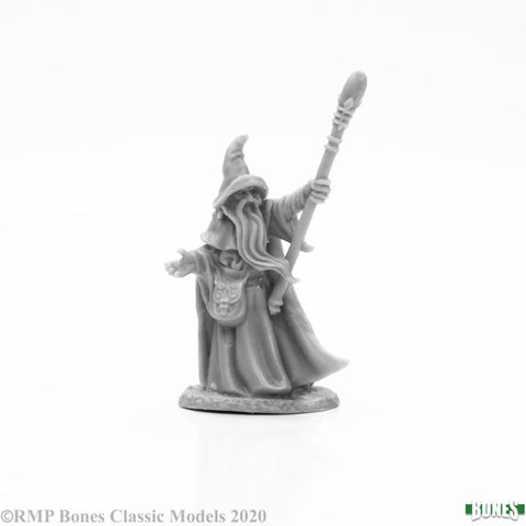 77664 - Arakus Landarazad, Wizard (Bones Black) :www.mightylancergames.co.uk