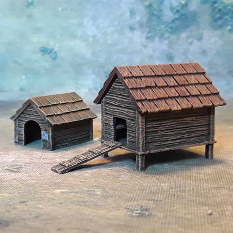 Dog Kennel & Chicken Coop [RESIN version]