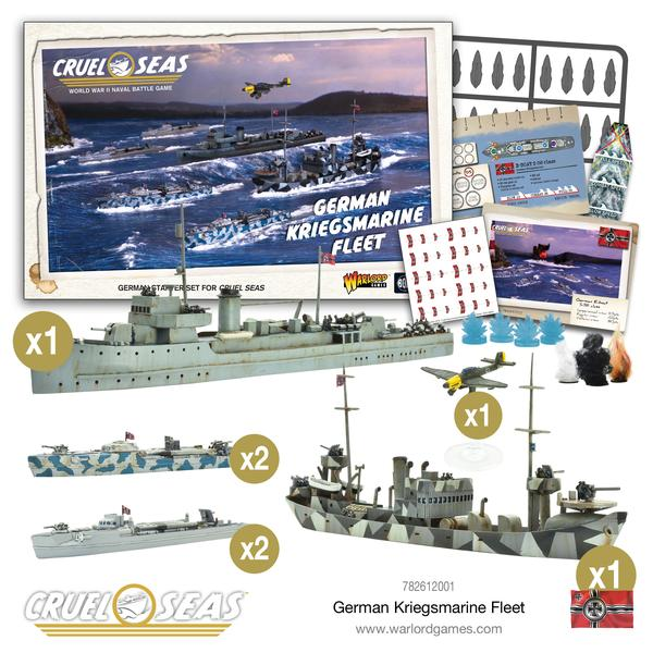 Cruel Seas - Kreigsmarine Fleet (German Starter Fleet)