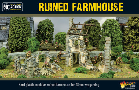 Ruined Farmhouse - Terrain Plastic Kit (Bolt Action) :www.mightylancergames.co.uk