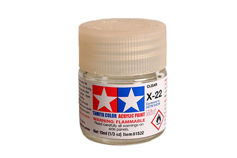 81522 ACRYLIC MINI X-22 CLEAR - TAMIYA PAINT
