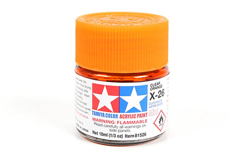 81526 ACRYLIC MINI X-26 CLEAR ORANGE - TAMIYA PAINT