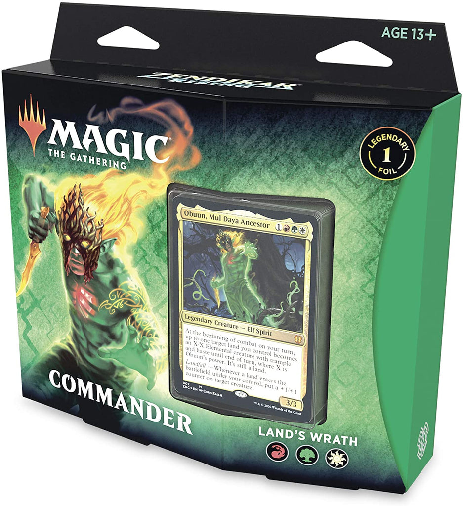 Magic: The Gathering: Zendikar Rising Land's Wrath Commander Deck
