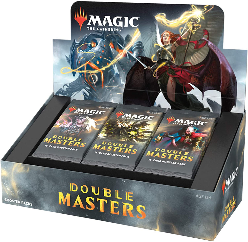 Magic: The Gathering Double Masters Draft Booster Box (24 Packs) & 2 Box Toppers