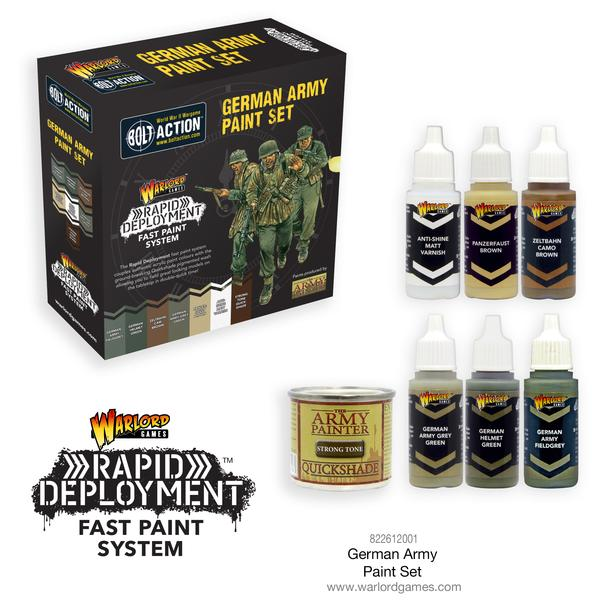 German Army Paint Set - Bolt Action :www.mightylancergames.co.uk