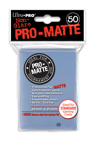 50ct Pro-Matte Clear Standard Deck Protectors Sleeves (66mm x 91mm): www.mightylancergames.co.uk