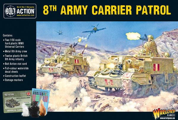 8th Army Carrier Patrol - Bolt Action: www.mightylancergames.co.uk