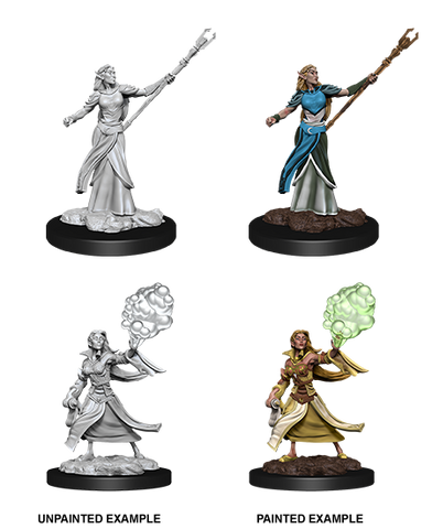 Female Elf Sorcerer - 90054 (Wizkids UPM) ***Wave 12*** :www.mightylancergames.co.uk