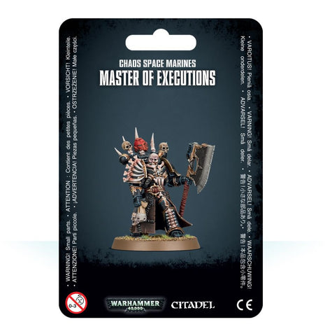 Chaos Space Marines Master of Executions Pre-order product that will ship on 20/04/2019
