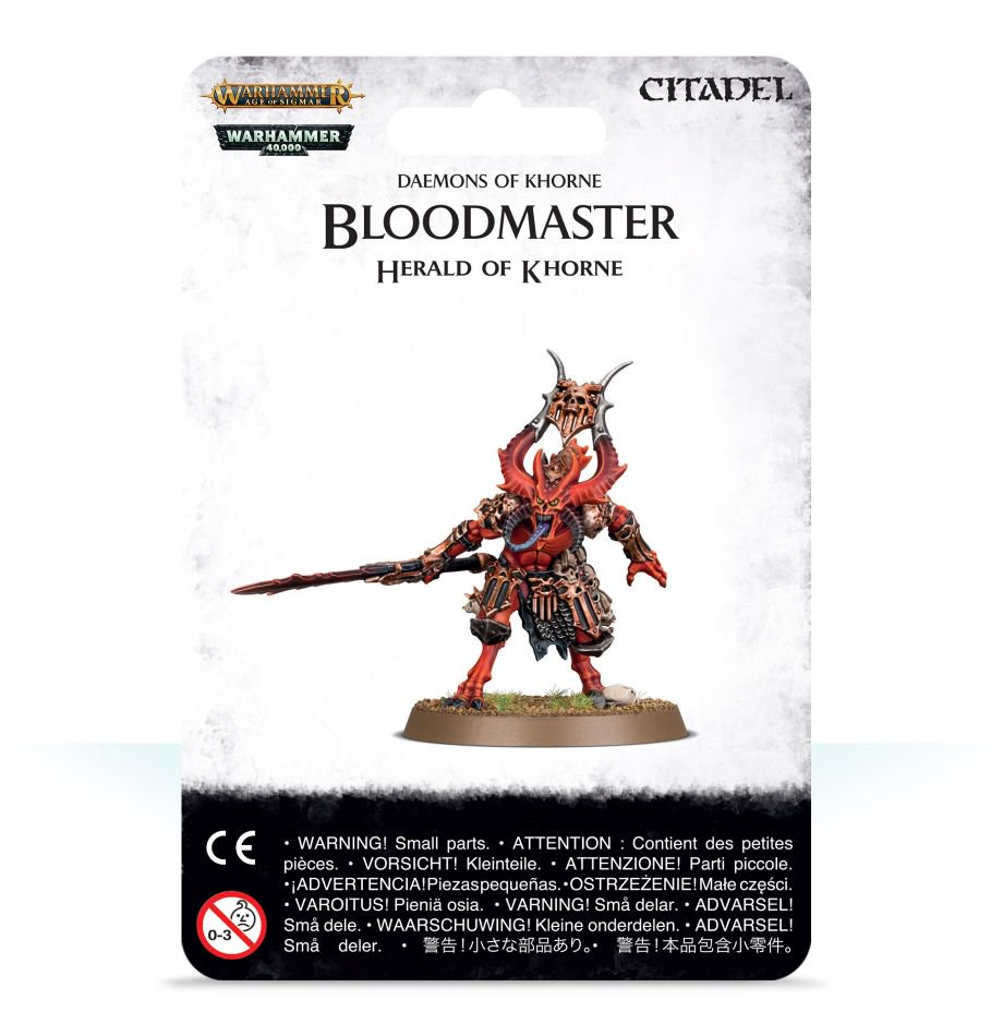 Bloodmaster, Herald of Khorne - Daemons of Khorne (Age of Sigmar) :www.mightylancergames.co.uk