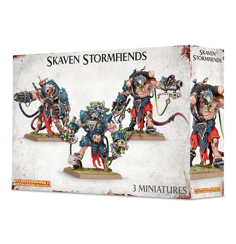 Games Workshop Skaven Stormfiends: www.mightylancergames.co.uk