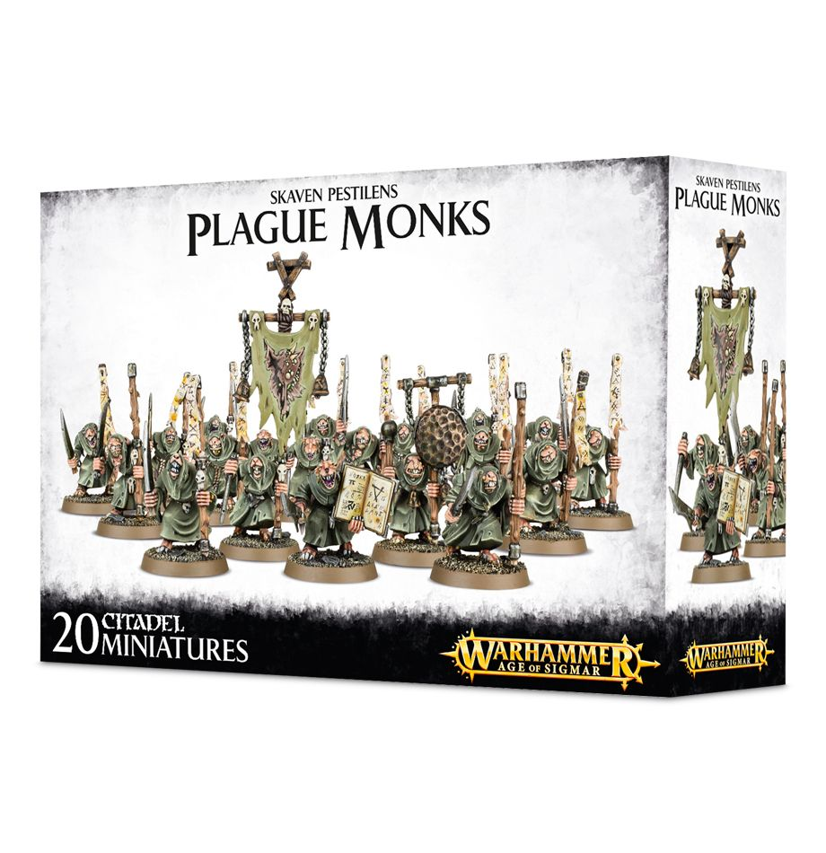 Skaven Pestilens - Plague Monks (Age of Sigmar): www.mightylancergames.co.uk