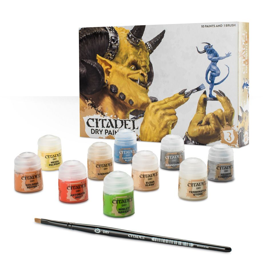 Citadel Dry Paint Set: www.mightylancergames.co.uk