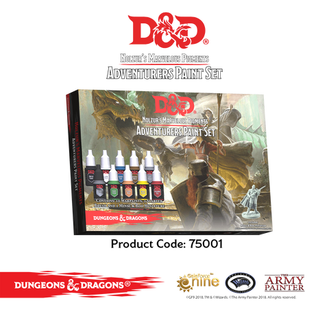 D&D ADVENTURERS PAINT SET: www.mightylancergames.co.uk