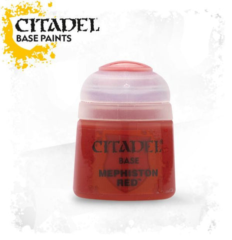 Citadel Base Paint - Mephiston Red  (12ml)  :www.mightylancergames.co.uk