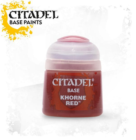 Citadel Base Paint - KHORNE RED (12ml): www.mightylancergames.co.uk
