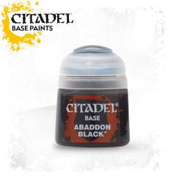 Citadel Base Paint - Abaddon Black   (12ml) :www.mightylancergames.co.uk