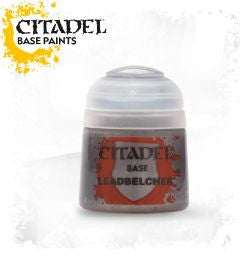 Citadel Base Paint - Leadbelcher (12ml): www.mightylancergames.co.uk