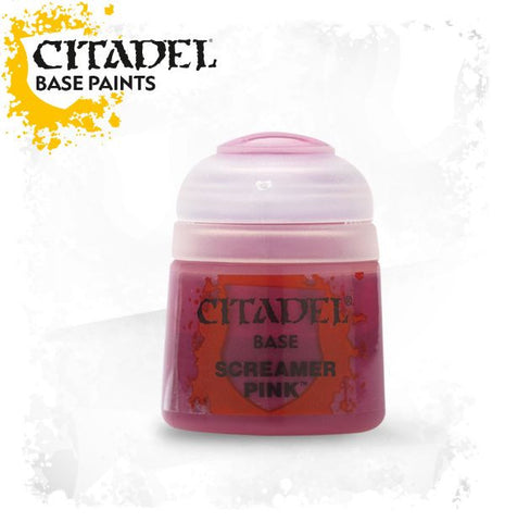 Citadel Base Paint - Screamer Pink (12ml) :www.mightylancergames.co.uk