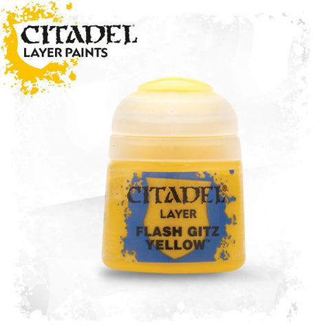 Citadel Layer Paint - Flash Gitz Yellow (12ml) :www.mightylancergames.co.uk