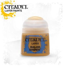 Citadel Layer Paint - Balor Brown (12ml): www.mightylancergames.co.uk