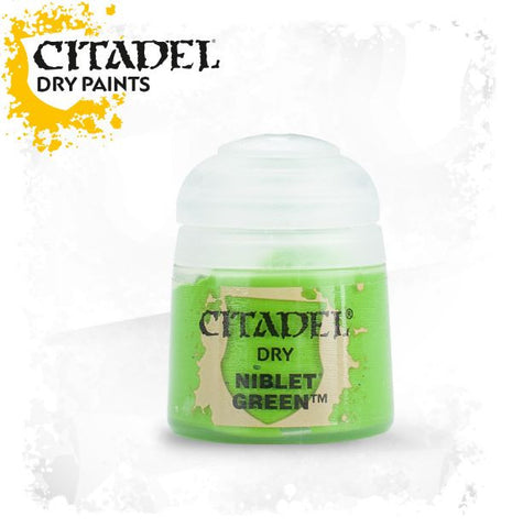 Citadel dry Paint - Niblet Green (12ml) :www.mightylancerghames.co.uk