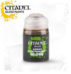 Citadel Shade Ink - Agrax Earthshade Gloss (24ml): www.mightylancergames.co.uk