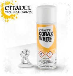 Citadel spray paint - CORAX WHITE SPRAY: www.mightylancergames.co.uk